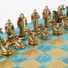 """Шахматный набор """"Архаический период"""" патиновая доска 36x36 см, фигуры бронза-патина"""