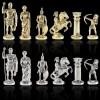 """Шахматный набор """"Лучники Античные войны"""" черно-белая доска 44x44 см, фигуры золото-серебро"""