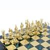 """Шахматный набор """"Лучники Античные войны"""" зеленая доска 44x44 см, фигуры золото-серебро"""