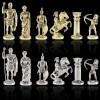 """Шахматный набор """"Лучники Античные войны"""" патиновая доска 44x44 см, фигуры золото-серебро"""