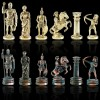 """Шахматный набор """"Лучники Античные войны"""" зеленая доска 44x44 см, фигуры золото-антик"""