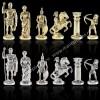 """Шахматный набор """"Лучники Античные войны"""" зеленая доска 28x28 см, фигуры золото-серебро"""