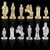 """Шахматный набор """"Византийская Империя"""" черно-белая доска 20x20 см, фигуры золото-серебро"""