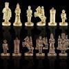 """Шахматный набор """"Византийская Империя"""" красная доска 20x20 см, фигуры золото-бронза"""