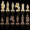 """Шахматный набор """"Византийская Империя"""" зеленая доска 20x20 см, фигуры золото-бронза"""