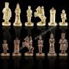 """Шахматный набор """"Византийская Империя"""" патиновая доска 20x20 см, фигуры золото-бронза"""