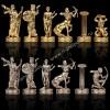 """Шахматный набор """"Битва Титанов"""" зеленая доска 36x36 см, фигуры золото-серебро"""