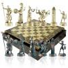 """Шахматный набор """"Греческая Мифология"""" коричневая доска 36x36 см, фигуры золото-антик"""