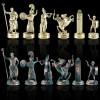 """Шахматный набор """"Греческая Мифология"""" зеленая доска 36x36 см, фигуры золото-антик"""
