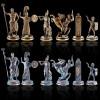 """Шахматный набор """"Греческая Мифология"""" патиновая доска 36x36 см, фигуры бронза-патина"""