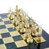 """Шахматный набор """"Греческая Мифология"""" зеленая доска 36x36 см, фигуры золото-бронза"""