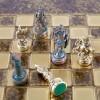 """Шахматный набор """"Греко-Римский период"""" коричневая доска 28x28 см, фигуры золото-антик"""