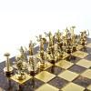"""Шахматный набор """"Подвиги Геракла"""" коричневая доска 36x36 см, фигуры золото-серебро"""