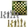 """Шахматный набор """"Афина"""" металлическая доска 33x33 см, фигуры золото-серебро"""