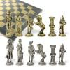 """Шахматный набор """"Отечественная война 1812 г."""" металлическая доска 38x38 см, фигуры золото-серебро"""