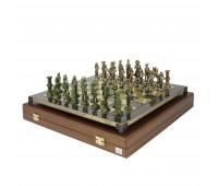 """Шахматный набор """"Отечественная война 1812 г."""" металлическая доска 38x38 см, фигуры бронза-антик"""