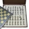 """Шахматный набор """"Великая Отечественная Война 1941-1945 г."""" металлическая доска 38x38 см, фигуры золото-серебро"""
