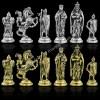 """Шахматный набор """"Крестоносцы"""" металлическая доска 45x45 см, фигуры золото-серебро"""