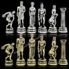 """Шахматный набор """"Дискобол"""" металлическая доска 45x45 см, фигуры золото-серебро"""