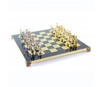 """Шахматный набор """"Олимпийские Игры"""" зеленая доска 36x36 см, фигуры золото-серебро"""
