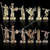 """Шахматный набор """"Олимпийские Игры"""" патиновая доска 36x36 см, фигуры золото-серебро"""