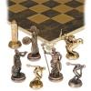 """Шахматный набор """"Олимпийские Игры"""" коричневая доска 36x36 см, фигуры золото-бронза"""