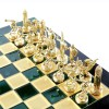 """Шахматный набор """"Олимпийские Игры"""" зеленая доска 36x36 см, фигуры золото-бронза"""