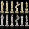 """Шахматный набор """"Ренессанс"""" синяя доска 36x36 см, фигуры золото-серебро"""