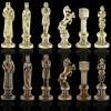 """Шахматный набор """"Ренессанс"""" коричневая доска 36x36 см, фигуры золото-бронза"""