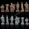 """Шахматный набор """"Древняя Спарта"""" коричневая доска 28x28 см, фигуры бронза-патина"""