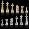 """Шахматы турнирные """"Стаунтон"""" черно-белая доска 44x44 см, фигуры золото-серебро"""